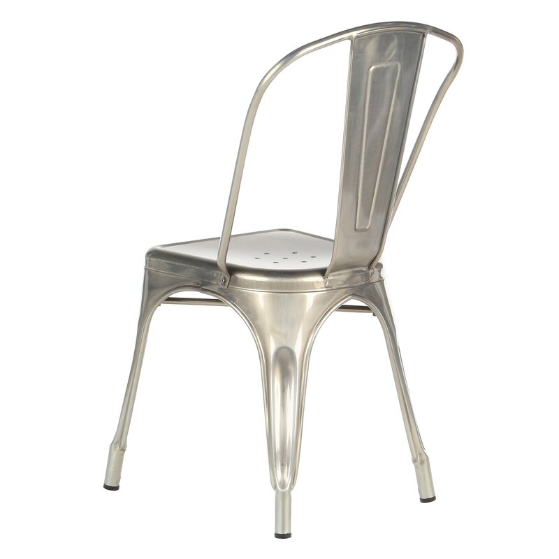 Superior Industrial Metal Side Chair Stackable