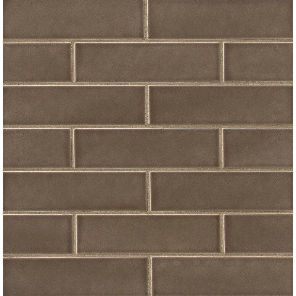 Gsmt Park Place 25 X 9 Ceramic Field Tile In Matte Brown Wayfair