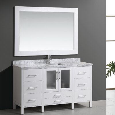 Claravale 60 Single Modern Bathroom Vanity Set With Mirror