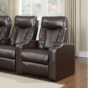 Eugenia Home Theater Right Facing Recliner by Latitude Run