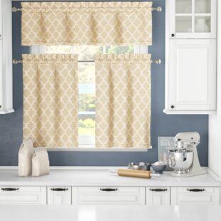 Darby Home Co Connor 3 Piece Kitchen Curtain Set Wayfair