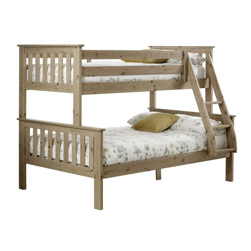 Carra Triple Sleeper Bunk Bed with Mattresses