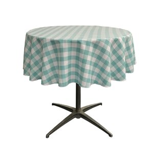 Andrade Polyester Gingham Checkered Round Tablecloth