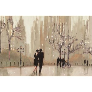 'An Evening Out Neutral' by Julia Purinton Framed on Canvas