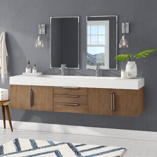 Hukill 73 Wall Mounted Single Bathroom Vanity Set