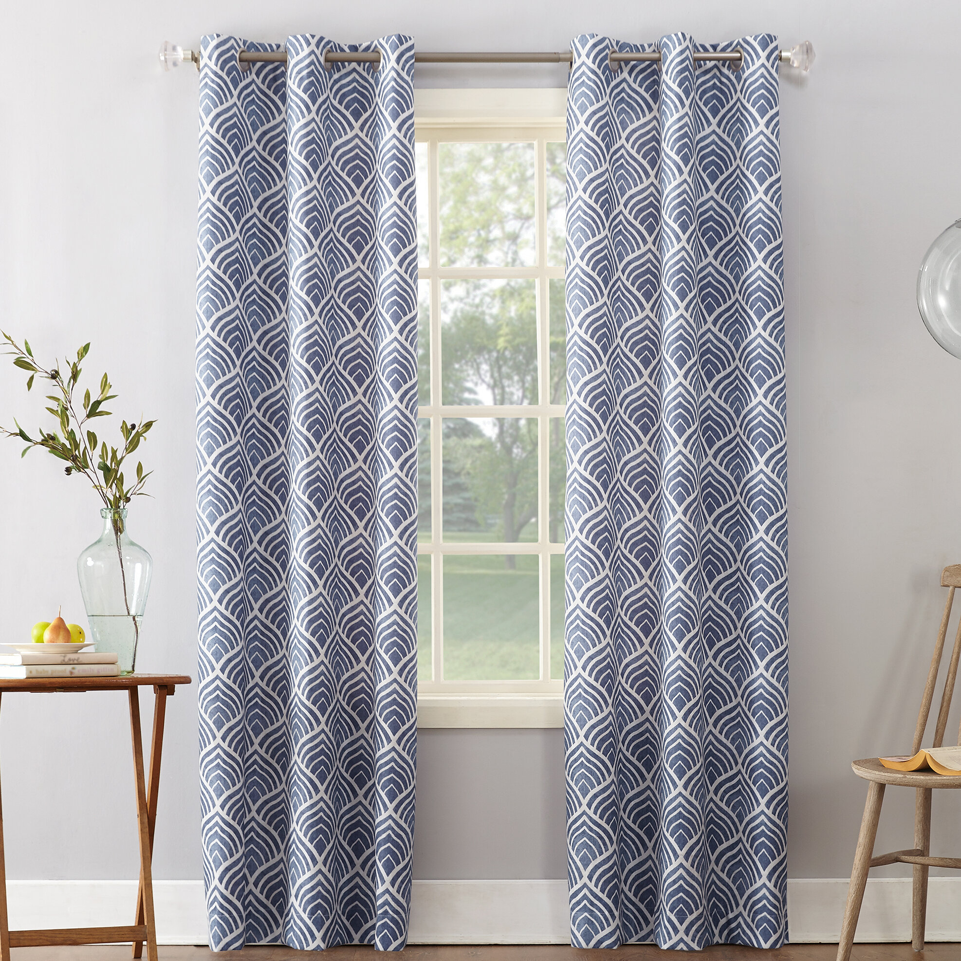 curtain blackout from thermal treatments insulated curten one window top panels panel drape fashion curtains item home pastoral garden in drapes grommet single print geometries