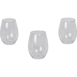 Wayfair Basics Plastic Stemless 12 oz Wine Glass (Set of 64)