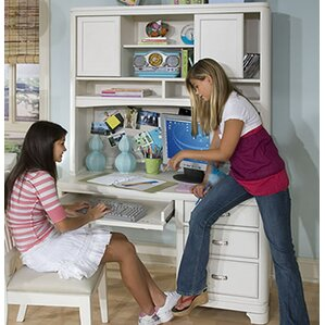 Jami Computer Desk with Hutch by Harriet Bee