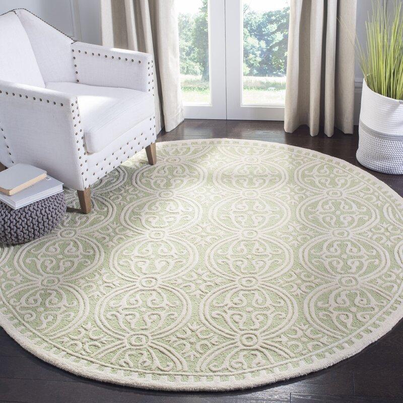Diona Wool Light Green/Ivory Area Rug