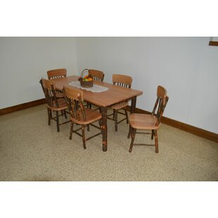Wyton 7 Piece Solid Wood Dining Set