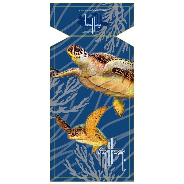 Brand new Fiberbuilt Guy Harvey Sea Turtle Beach Towel & Reviews | Wayfair YK31
