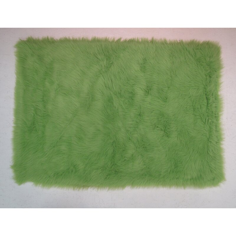 Fun Rugs Lime Green Kids Rug