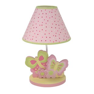 Perfect Butterfly Garden Lamp With Shade And Bulb