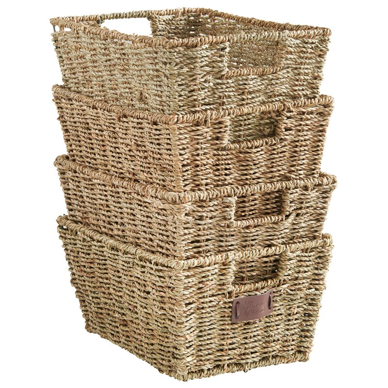 Beau Seagrass Storage Basket (Set Of 4)