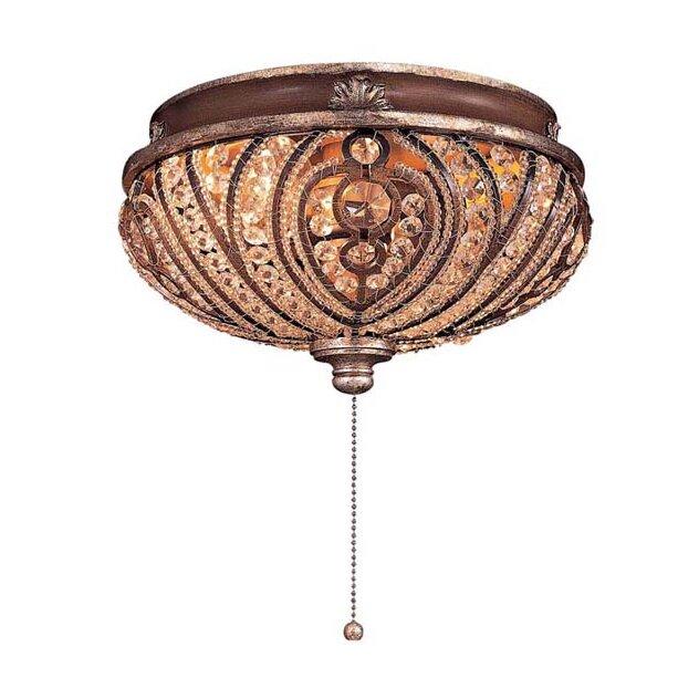 Universal 2-Light Bowl Ceiling Fan Light Kit - Minka Aire Universal 2-Light Bowl Ceiling Fan Light Kit & Reviews