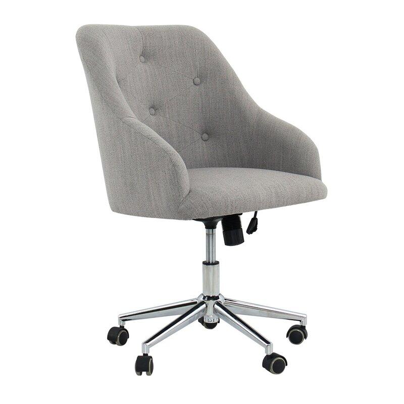 Rashida Tufted Swivel Mid Back Desk Chair