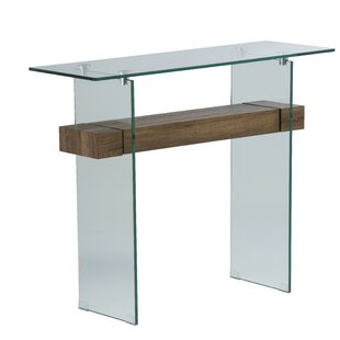 Hufnagel Glass Console Table By Wrought Studio