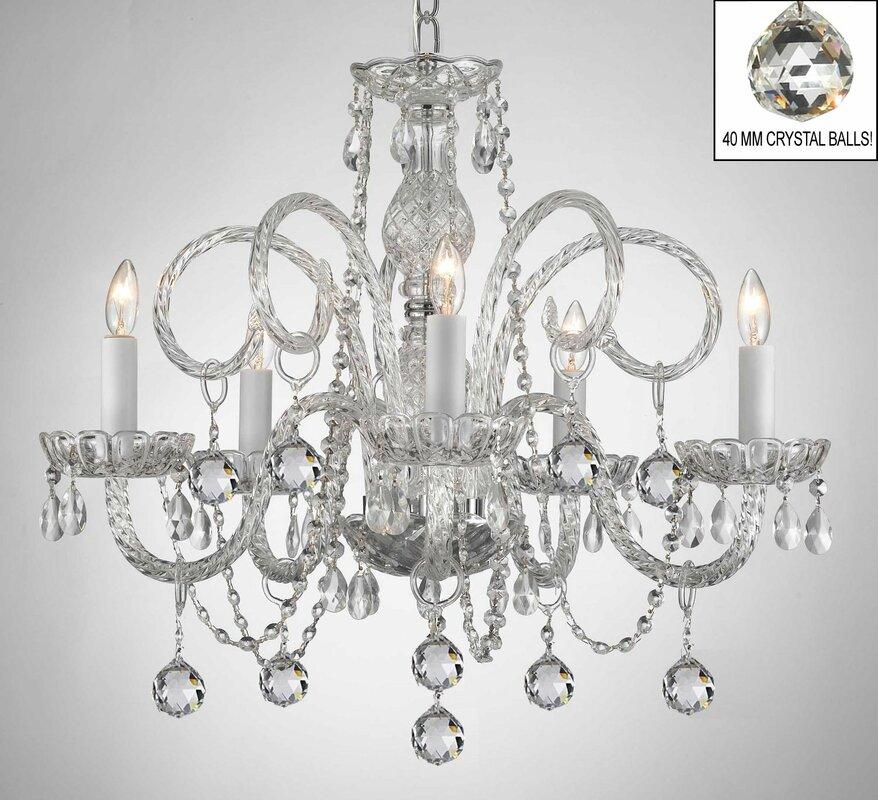 House of hampton karratha swarovski 5 light crystal chandelier karratha swarovski 5 light crystal chandelier aloadofball Gallery