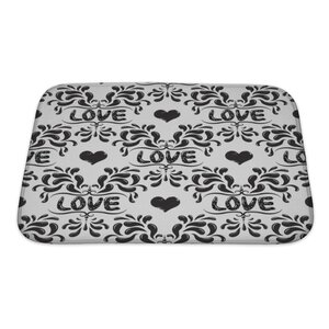 Delta Damask Pattern with Love Word Bath Rug