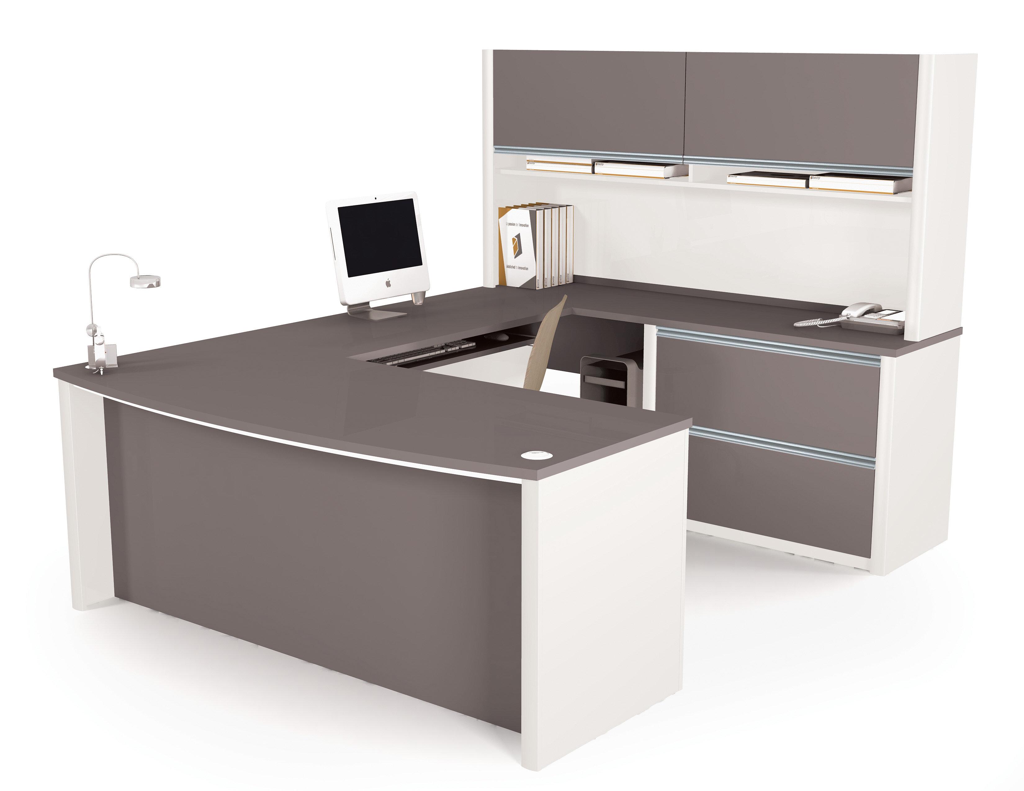 Bureaux en angle caractéristiques bureau avec huche wayfair