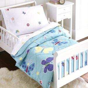 Butterfly Garden 4 Piece Toddler Bedding Set
