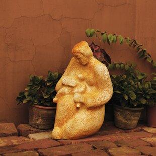 Children Mother Nurturing Child Outdoor Statue