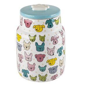 Anne Was Here Puppys and Dots Pet Treat Jar