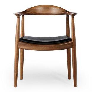 Gravitt Genuine Leather Upholstered Dining Chair