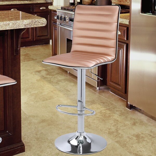 Latitude Run Savoy Adjustable Height Swivel Bar Stool
