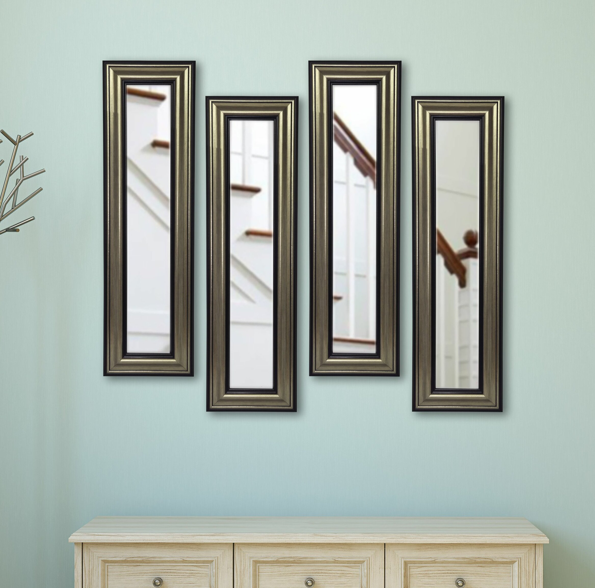 Apprehensive Antique Wooden Wall Hanging Mirror Antiques Great Vintage Condition Online Discount