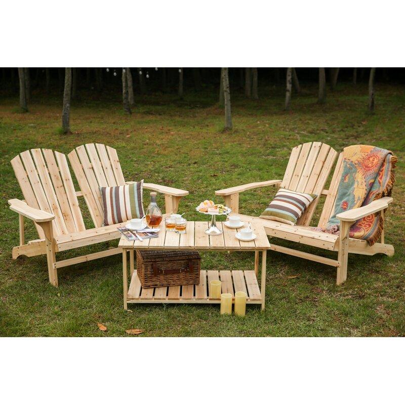Merveilleux Ogrady 3 Piece Double Adirondack Chair And Table Set