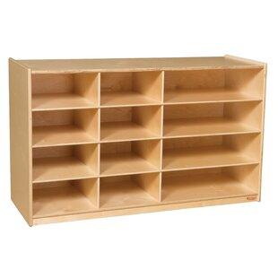 angeles 8 compartment shelving unit with casters wayfair rh wayfair com portable wood shelving units portable wood shelving units