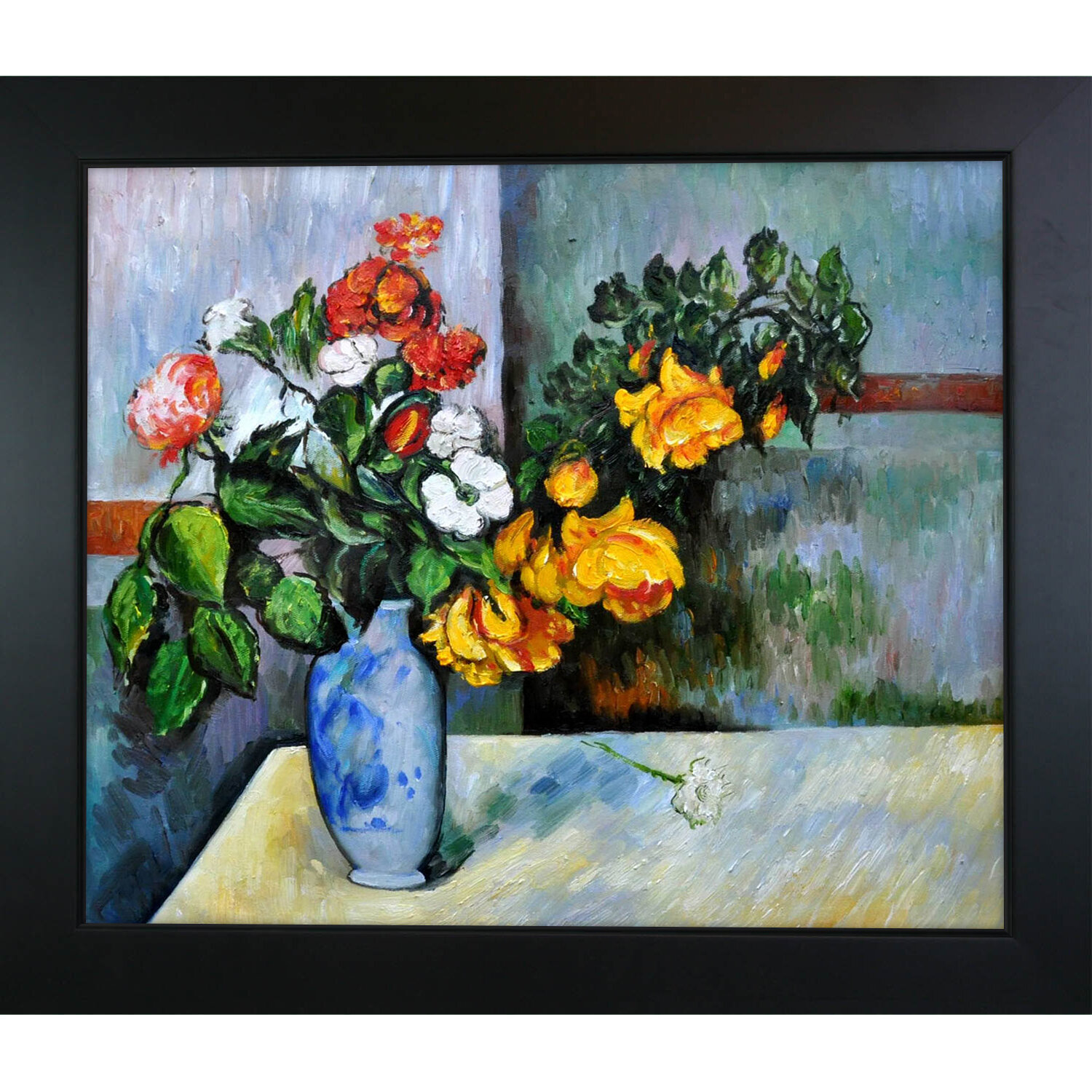 Tori home still life flowers in vase by paul cezanne framed tori home still life flowers in vase by paul cezanne framed painting reviews wayfair reviewsmspy