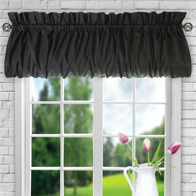 Ellis 60 Balloon Curtain Valance August Grove Color: Black