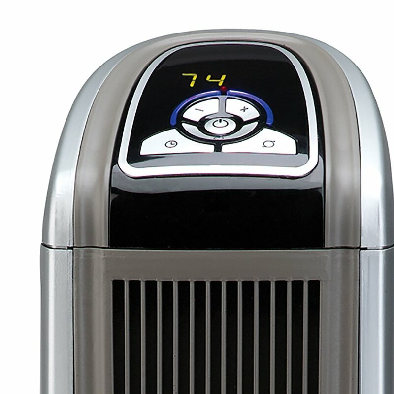 Ceramic 1,500 Watt Portable Electric Fan Tower Heater with Logic Center  Remote Control