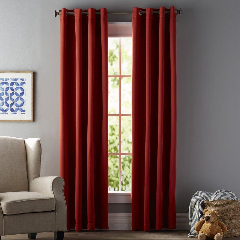 Mitt Solid Room Darkening Thermal Grommet Curtain Panels