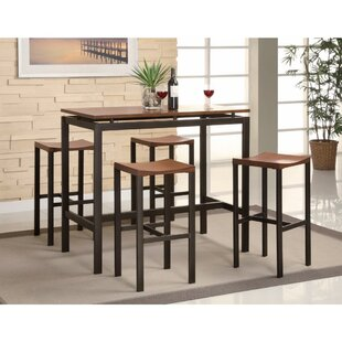 O'Donnelly 5 Piece Counter Height Dining Set