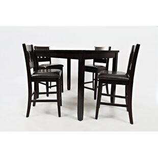 Jarrett 5 Piece Counter Height Solid Wood Dining Set