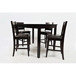 Jarrett 5 Piece Counter Height Solid Wood Dining Set