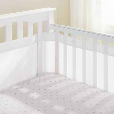 Mesh Crib Bumper Liner Breathable Baby Color: White