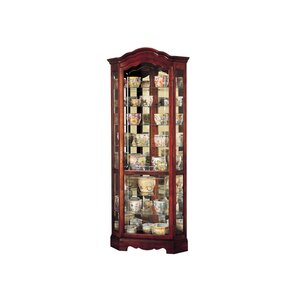 Jamestown Lighted Corner Curio Cabinet by Howard Miller?