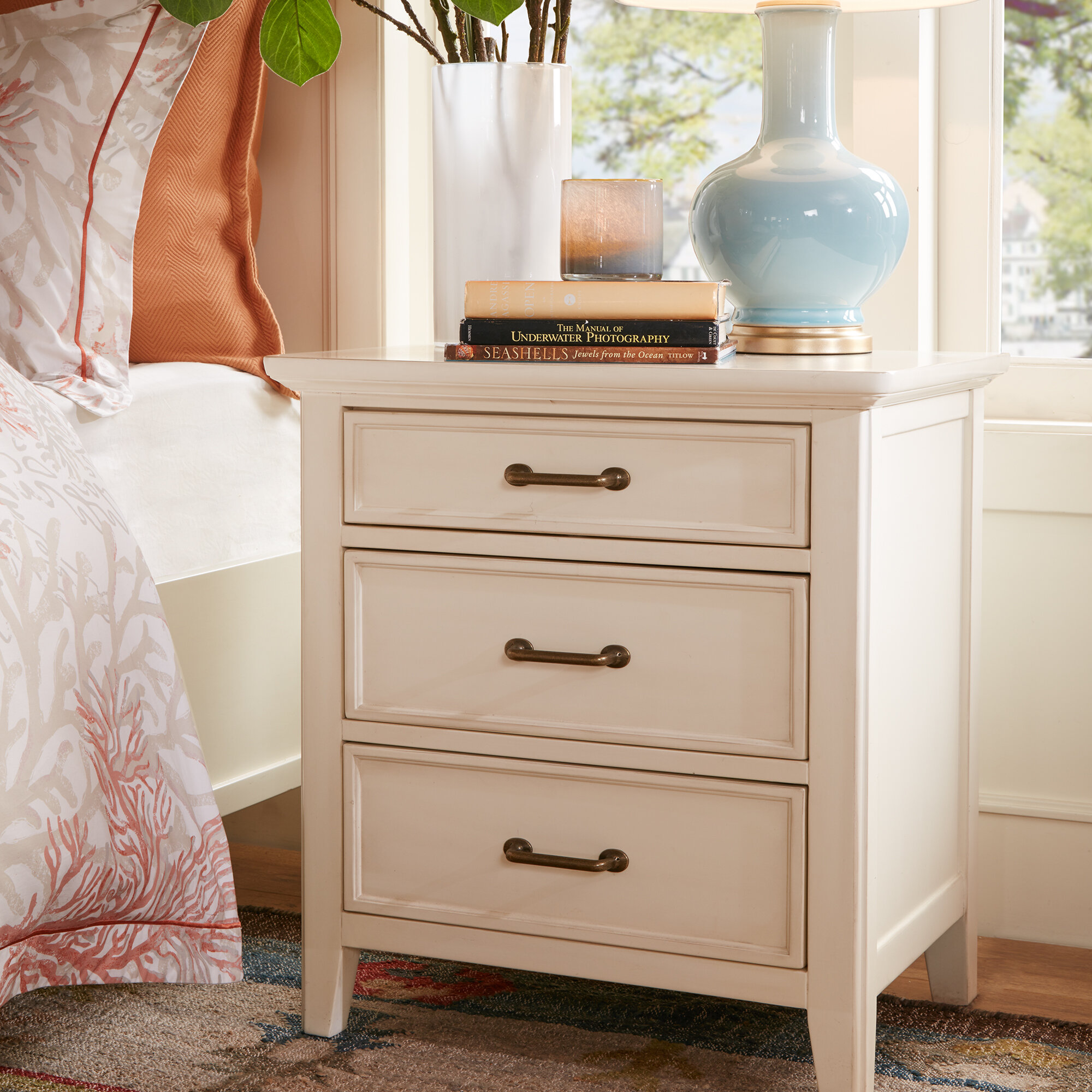 white furniture acme nightstand naima drawer with rubberwood