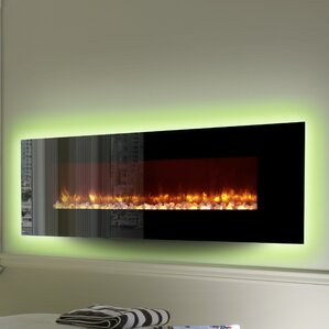 LED Wall Mount Electric Fireplace by Dynasty..