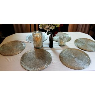 Round Table Placemats.Beaded Round Placemats You Ll Love In 2019 Wayfair