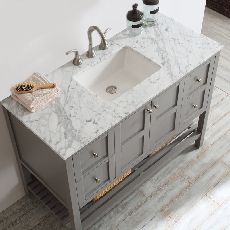 """Custom Bathroom Vanities Prices beachcrest home caldwell 48"""" single bathroom vanity set & reviews"""