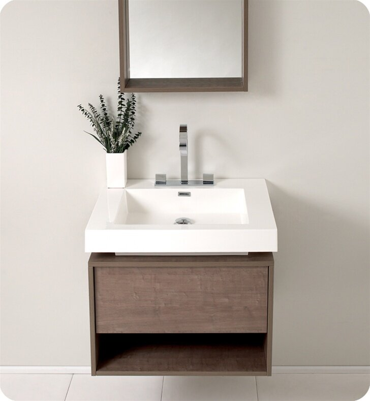 Fresca Senza 27 Potenza Single Modern Bathroom Vanity Set With Mirror Wayfair