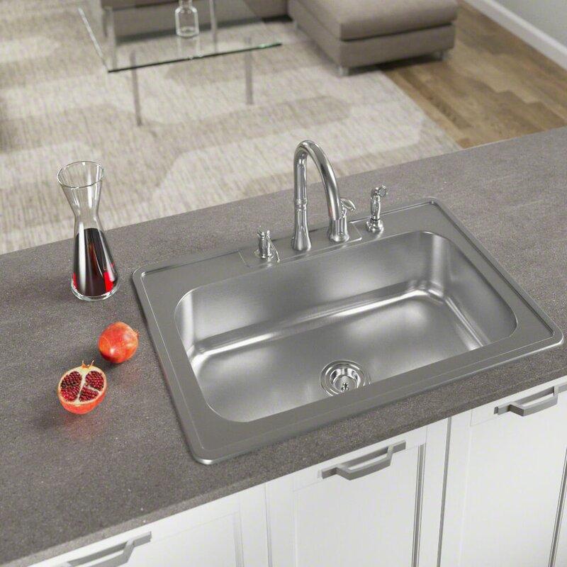 25   x 22   drop in kitchen sink with basket strainer mrdirect 25   x 22   drop in kitchen sink with basket strainer      rh   wayfair com