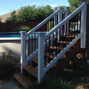 Gentil Beaumont Stair Railing With Round Aluminum Spindles Panel