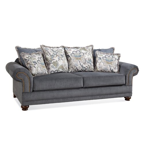 Serta Upholstery Aspen Sofa With Pillows