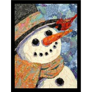 'Snowman' by Demetra Turner Framed Painting Print